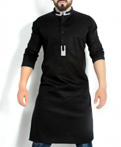 Black Stylish Design Kurta CD-011