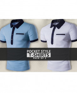 Pack Of 2 Pocket Style T-Shirts FHJ-123