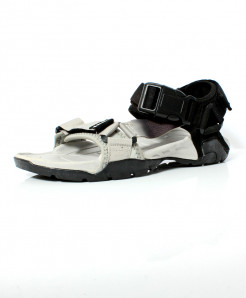 Grey Silver Black Shaded Stitched Design Casual Sandal DR-462