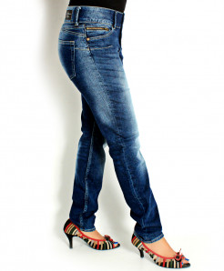 Blue Shaded Stylish Jeans FSF-003
