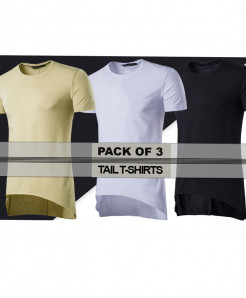 Pack Of 3 Tail Stylish Tees FHE-976