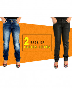 Pack Of 2 Stylish Ladies Jeans FHD-124