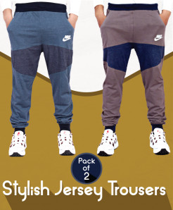 Pack Of 2 Stylish Jersey Trousers AG-19