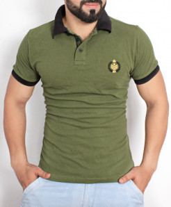 Forest Green Stylish Polo Shirt QZS-117