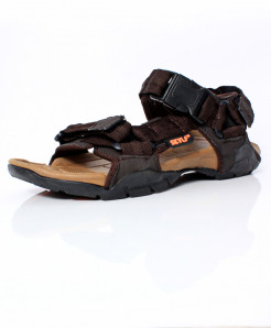 Brown Tri-Strap Stylish Casual Sandal CB-2148