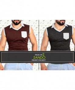 Pack Of 2 Front Pocket Stylish Sando FSP-540