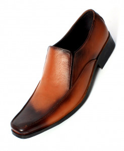 Brown Black Leather Stylish Formal Shoes LC-0016