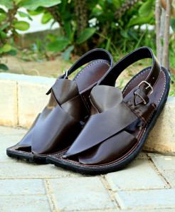 Choco Brown Jeep Sole Stylish Peshawari Sandal AK-2723