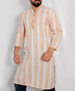 Multicolored Lining Embroidered Stylish Kurta ARK-985