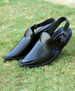 Black Closed Toe Style Peshawari Sandal AK-2735