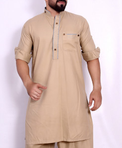 Brown Stylish Design Kurta Shalwar SJL-034