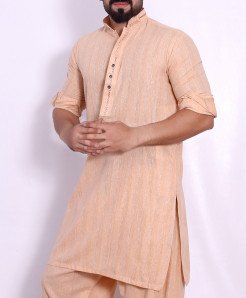 Peach Stylish Design Kurta Shalwar SJL-037