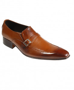 Mustard Leather Buckle Design Formal Shoes FIL-026