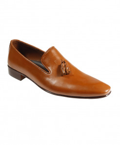 Mustard Leather Loafer Style Formal Shoes FIL-024