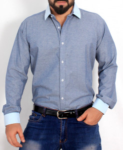 Light Blue Cotton Shirt PSM-018