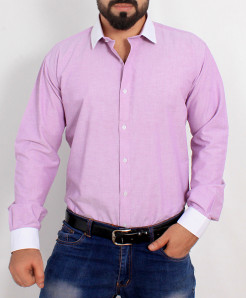 Light Purple Cotton Shirt PSM-023
