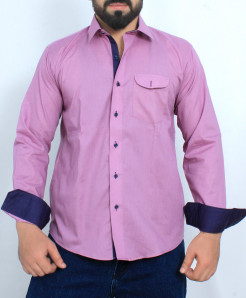 Purplish Pink Stylish Cotton Formal Shirt FW-37