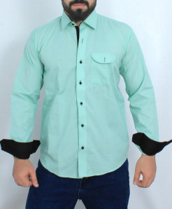 Green Stylish Cotton Formal Shirt FW-38