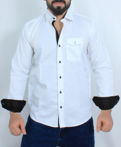 White Stylish Cotton Formal Shirt FW-39