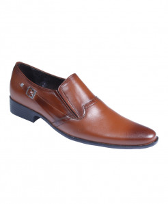 Mustard Leather Side Buckle SlipOn Formal Shoes LC-0019