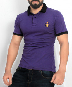 Purple Stylish Polo Shirt QZS-138