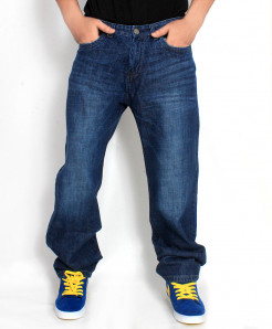 Blue Shaded Stylish Jeans SA-010