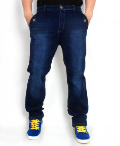 Navy Blue Shaded Stylish Jeans SA-011