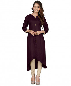 Dull Indigo Airline Style Ladies Kurti FLK-219