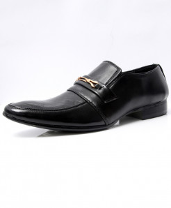 Black Buckle Stylish Design Formal Shoes LW-7030