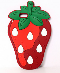 Strawberry iPhone 7 3D Silicone Gel Mobile Back Cover