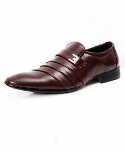 Choco Brown Stylish Design Formal Shoes LW-7063
