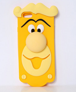 Cartoon Face iPhone 6 3D Silicone Gel Mobile Back Cover
