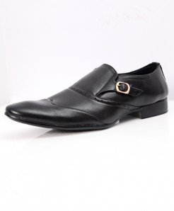 Black Side Buckle Stylish Design Formal Shoes LW-7089