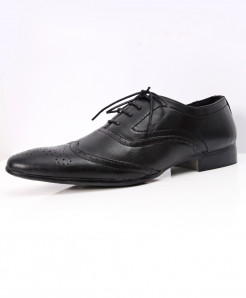 Black Dotted Stylish Design Formal Shoes LW-7090