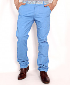 Sky Blue Stylish Chino Cotton Pants HG-1809