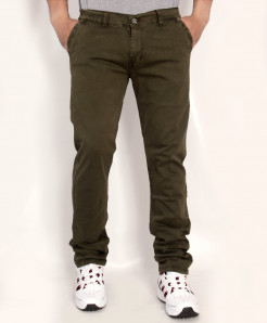 Olive Green Stylish Cotton Jeans RDI-2811