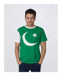 Pack Of 2 Printed Flag Pakistan Tees MOL-023