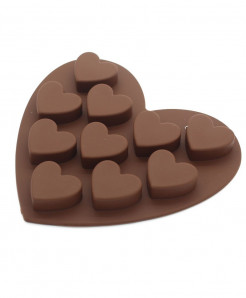 GoldBaking Silicone Heart Chocolate Mold Cake Baking Tray Silicon Mould
