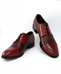 Corio Leather Burgundy Derby Style Shoes CSR-AU-16