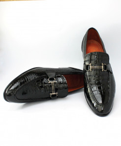 Corio Black Leather Classic Loafer Style Shoes CSR-JC-147