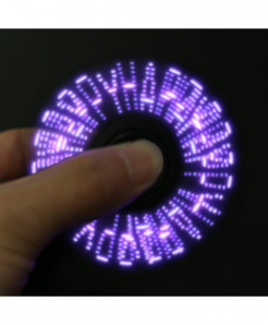 Black 5 Patterns LED Fidget Spinner LED-AR-674