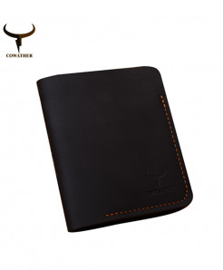 COWATHER Black Stylish Leather Wallet AT-3473