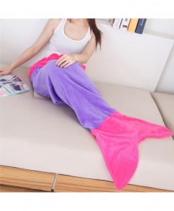 124x104cm Quilt Fleece Mermaid Blanket