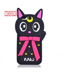 iPhone 7 Kitty Look Silicone Case Cover