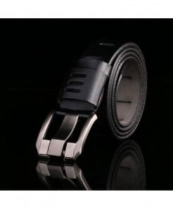 Black Designer Luxury Leather Belt AT-802