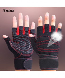 TNINE Red Body Building Training Fitness WeightLifting Gym Gloves