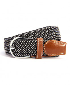 Canvas Webbing Metal Buckle Woven Stretch Belt AT-588