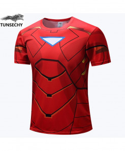 3D Printed Iron Man Fitness T-Shirts AT-480