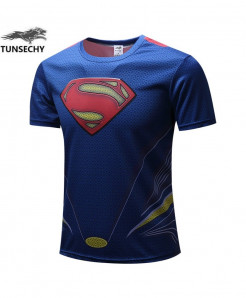 3D Printed Superman Fitness T-Shirts AT-480