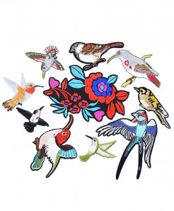 10 PCs DIY Iron On Birds Patches